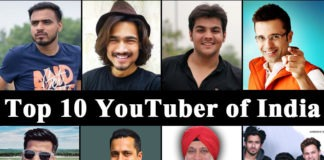 top youtubers of india